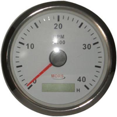 Devir Göstergesi Beyaz Motor Zaman Saatli 12-24 V