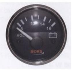 Voltmetre Siyah  12-24 V.